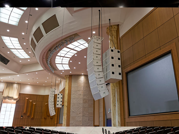 sound system for church. pohang church fits next-proaudio sound system for i